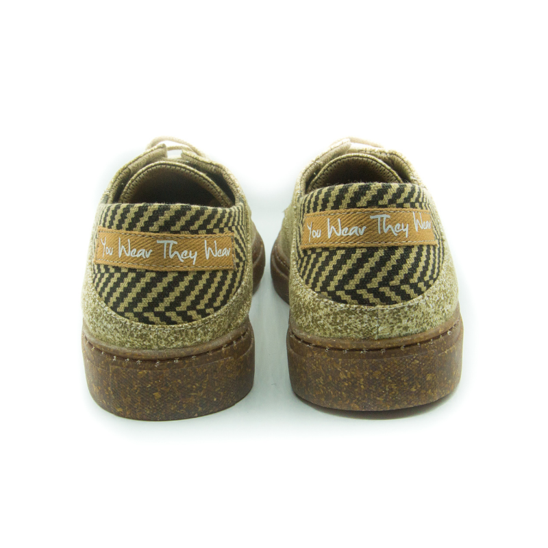 Lace-Up Sand Stone