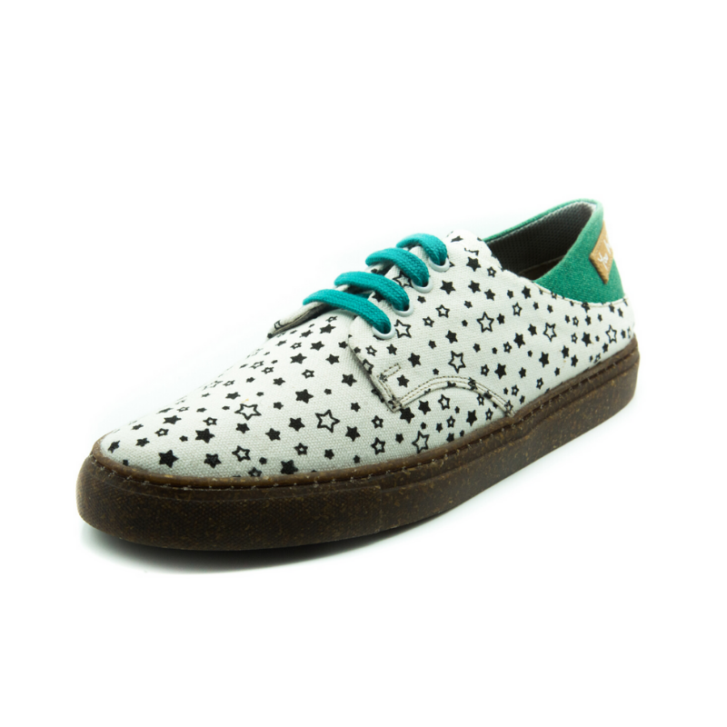 Lace-Up White Star